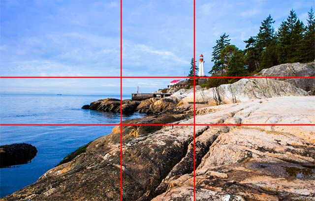Image of Lighthouse Park West Vancouver, Vancouver, Canada showing a Phi overlay composition by Sarah Vercoe.