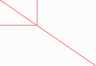 Graphic of rectangle and diagonal line to start the composition of an image in order to apply the Fibonacci Spiral by Sarah Vercoe.