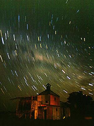 Hut and stars