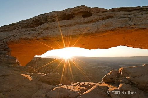Mesa Arch 3 minutes after sunrise.
