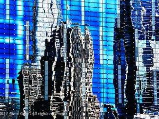 Cityscape-reflected--twenty-first-century-skyscraper-Chicago-Steve-Geer