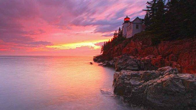Maine Acadia National Park. Bass Harbor Headlight. Juergen-Roth