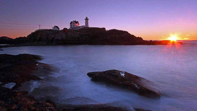 Nubble Lighthouse Maine. Sunrise-Photography by Juergen Roth