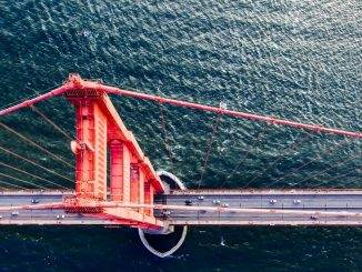 drone photography bridges