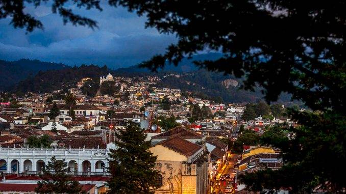 The historical center of San Cristóbal de las Casas