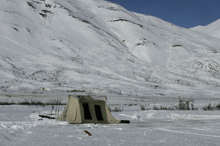 Photo of tent in remote area