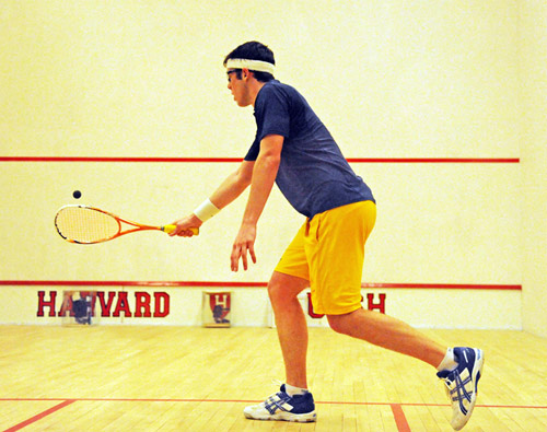 Photo of Trinity Squash Team Member Chris Binnie by Dick Druckman