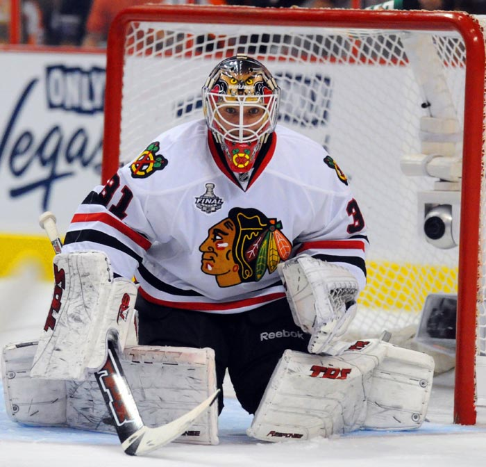 Photo of Blackhawks Goal Tender Antti Neimi by Dick Druckman