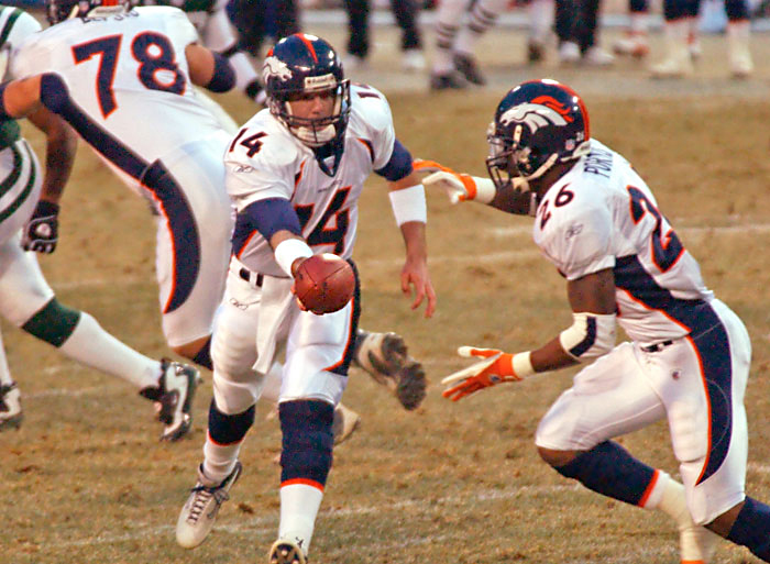 Photo of Denver Bronco's quarterback Brian Griese by Dick Druckman