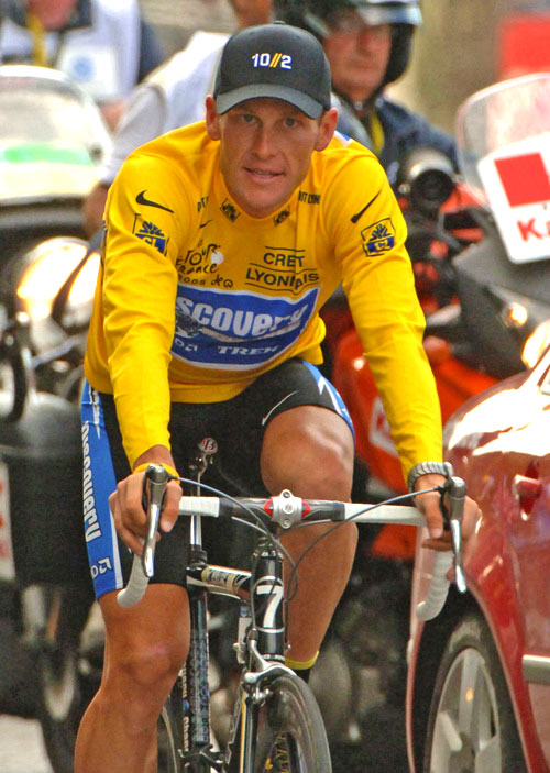 Photo of Lance Armstrong at Tour De France by Dick Druckman