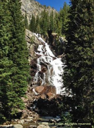 Photo of Hidden Falls near Jenny Lake, Grand Tetons, Wyoming by Jeff Doran.