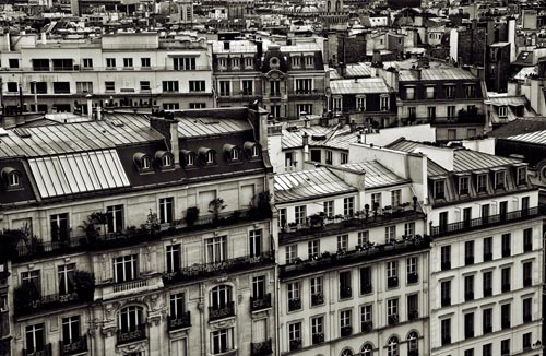 Photo of rows of apartments in Paris, France by Randy Romano