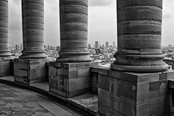 Photo of the Pillars of the Pantheon and the city of Paris, France by Randy Romano