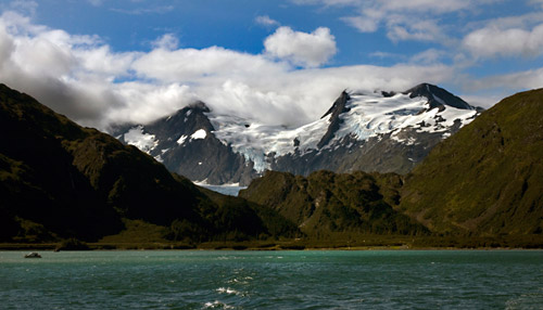 Photo of alpine glaciers near Whittier, Alaska by Barry Epstein