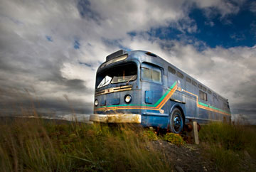 Photo of old bus in Homer, Alaska by Barry Epstein