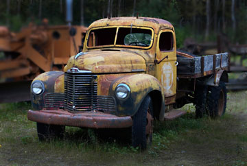 Photo of old truck near Anchorage, Alaska by Barry Epstein