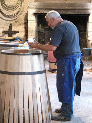 Photo of Cooperage, barrel-maker, at Chateau Margaux in Southern France by Doris Kolber
