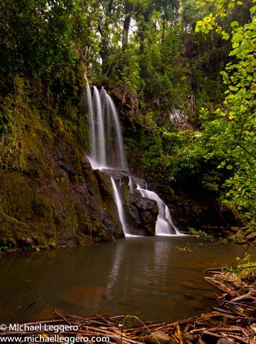 Photo of Waikama Falls in Hawaii by Michael Leggero