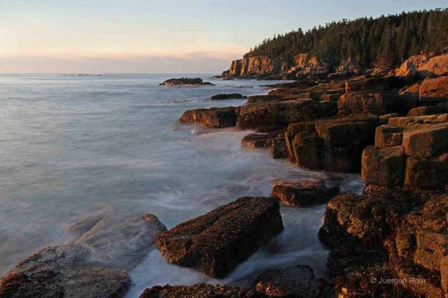 Acadia National Park photography, Maine: Rocky shoreline at sunrise by Juergen Roth - Photography Guide to Acadia National Park