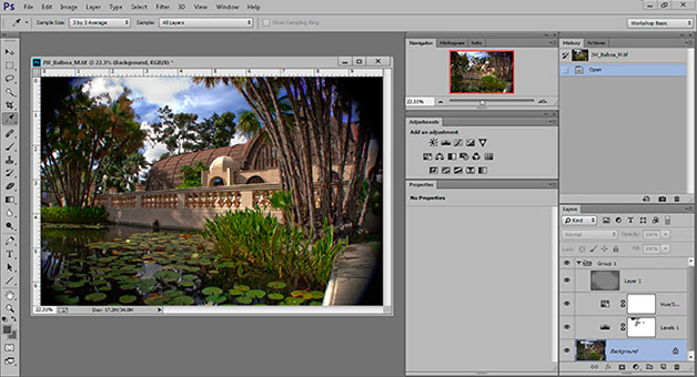Screen shot of Photoshop CC desktop by John Watts.