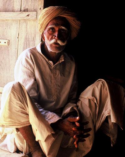 Photo of Indian man in Thar Desert by Ron Veto