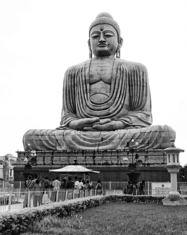 Photo of 82 foot Buddha statue in Bodhgaya, India by Nico DeBarmore