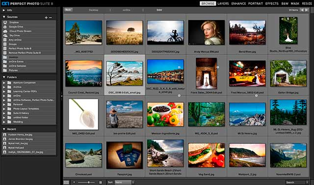 Perfect Photo Suite 8 Software: screen shot of Browse.