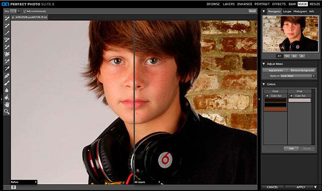 Perfect Photo Suite 8 Software: screen shot of Perfect Mask.