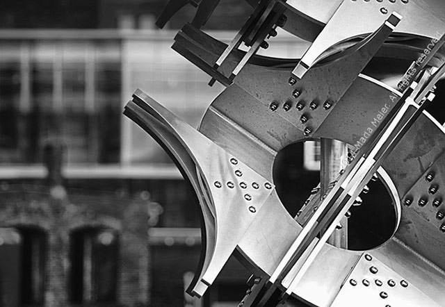 Taking on the Black and White Photo Challenge | Apogee Photo MagazineBlack and white photo of a metal scupture called Industrial Art by Marla Meier.