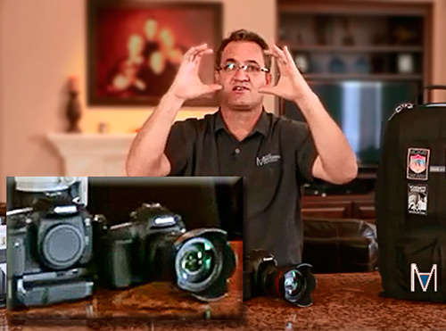 Image of David McKay explaining the camera sensor sizes.