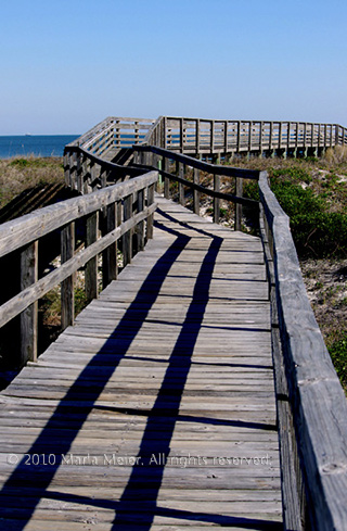 Image of boardwalk to the ocean, Little Talbot Island, Jacksonville, Florida by Marla Meier.