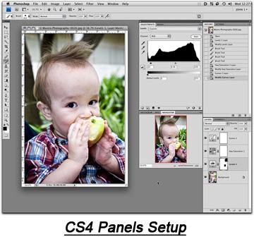 Photoshop CS4 Panel Setup