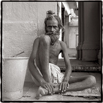 Photo of Sadhus in India by Dennis Cordell