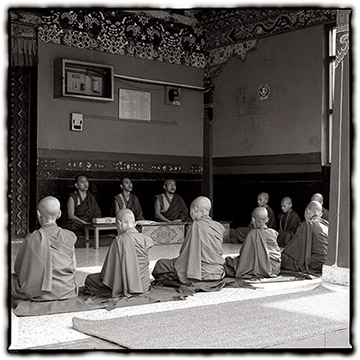 Photo of Monks in India by Dennis Cordell