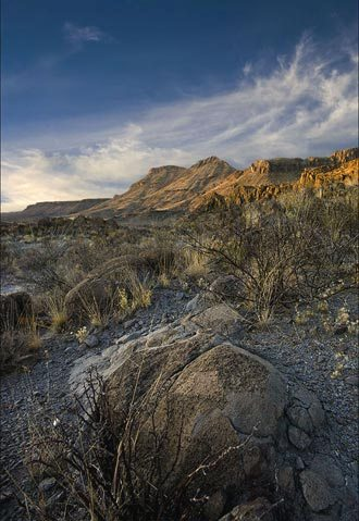 Photo of Bofecillos Mountains at Big Bend Ranch State Park, Texas by Gary Nored