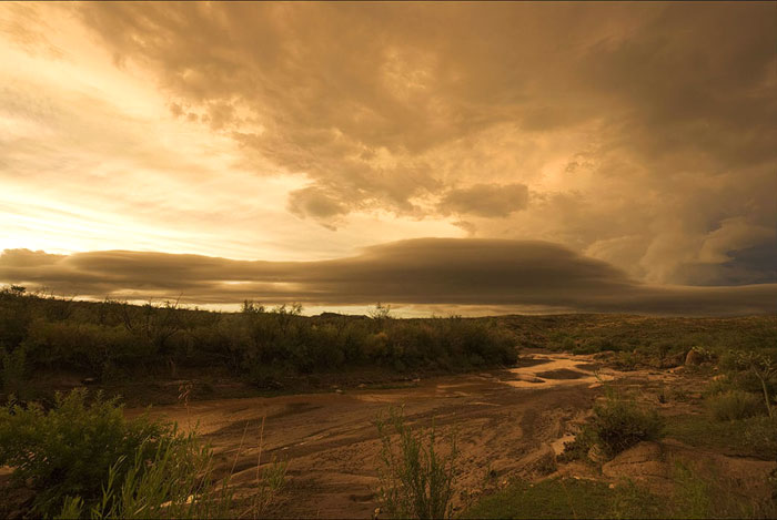 Photo of Storm at Sauceda Ranch Headquarters, Big Bend Ranch State Park, Texas by Gary Nored