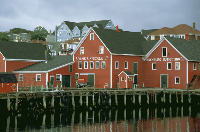 Photo of waterfront in Lumenburg, Nova Scotia by Mike Goldstein