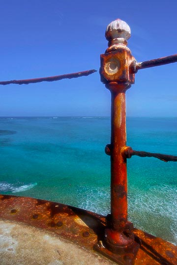 HDR image of the view from the top of the Bird Rock Cay Lighthouse on Crooked Island, Bahamas by Jim Austin.