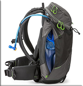 Image of the zippered hydration compartment of the MindShift Gear's rotation180°® Trail™Backpack by MindShift Gear.