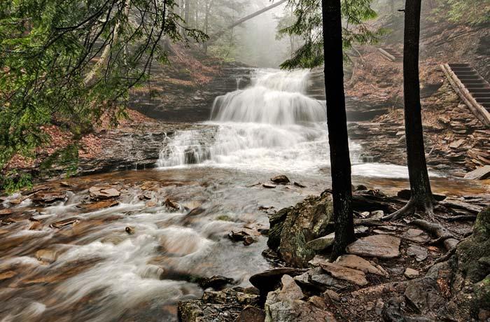 Photo of Onodaga Falls at Ricketts Glenn State Park by Robert Hitchman