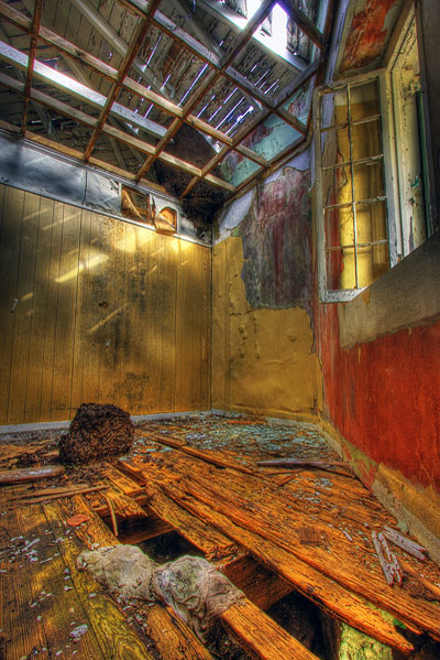 HDR image: Termite mound inside the Great Stirrup Lighthouse in the Bahamas by Jim Austin.