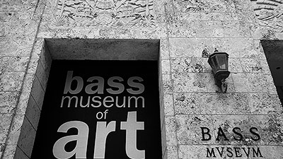 Photo of the entrance to Bass Museum of Art, Miami Beach, Florida by Jim Austin.
