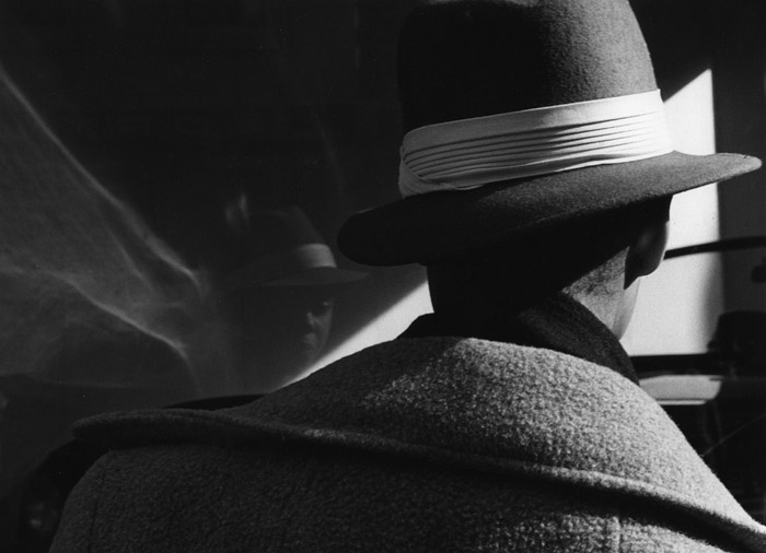 """Black and white photo called """"African American Man with Black Hat"""" taken in New York by Marie-Claire Montanari"""
