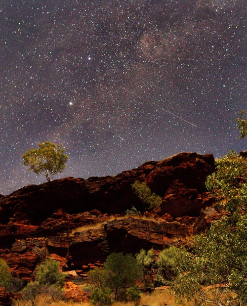 Photo of landscape and stars at Dales Gorge, Western Australia by Barry Epstein
