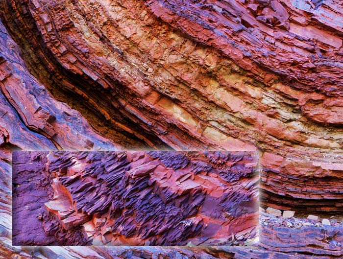 Photo of rock layers and shale rock, Western Australia by Barry Epstein