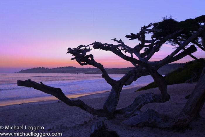 Photoshop manipulated photo: Sunrise at Carmel California coast by Michael Leggero