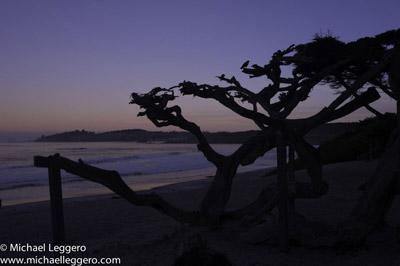 Pre-photo manipulation - sunrise at Carmel California coastline by Michael Leggero