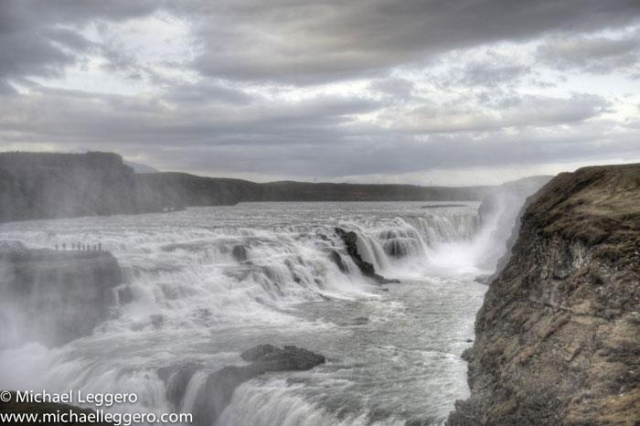 Photoshop manipulated photo: Iceland Gullfross waterfall by Michael Leggero