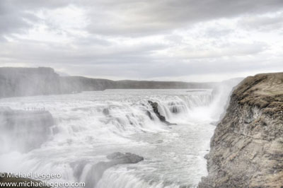 Pre-photo manipulation - Iceland Gullfoss waterfall by Michael Leggero