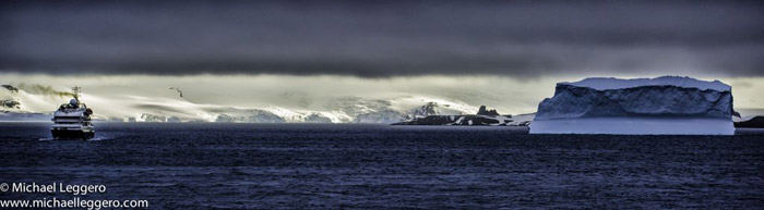 Photoshop manipulated photo: Antarctica at dusk by Michael Leggero